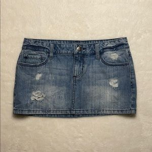 2.1 denim mini skirt